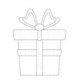 giftbox present isolated vector image