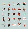 jazz musicians set vector image