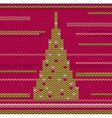 Knitted Christmas Tree vector image