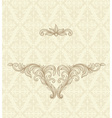 ornate gold border vector image