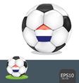soccer euro netherlands vector image