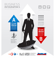 Infographics Business and financial concept vector image