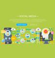 modern flat design social media concept social vector image