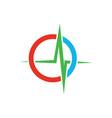 medical heartbeat logo image vector image