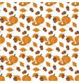 pumpkin pie pattern vector image