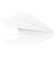 origami paper plane vector image vector image