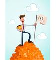 successfull businessman vector image vector image