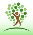 people tree icon vector image vector image