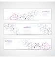 Colorful Collection horizontal banners Molecule vector image