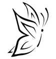 line butterfly vector image