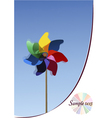 colorful windmills vector image