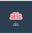 Big pink brain Business Idea concept Flat design vector image