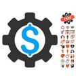 development cost icon with lovely bonus vector image