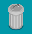 flat steel bin icon vector image
