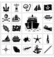 icon set nautical vector image