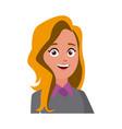 portrait cartoon woman business worker people vector image