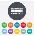 Smoking sign icon E-Cigarette symbol vector image
