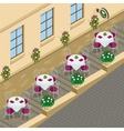 Street cafe Flat 3d isometric vector image