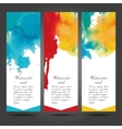 Three business cards template with hand vector image