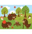 Cartoon Hedgehogs vector image