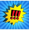 Comic bubble with exclamation points vector image