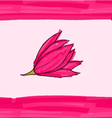 Big pink flower on pink with stripes vector image