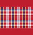 red plaid seamless fabric texture vector image