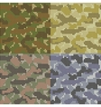 Dotted Camouflage Patterns vector image vector image