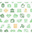 finance pattern background vector image