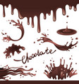 chocolate splashes vector image
