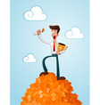 successfull businessman vector image vector image
