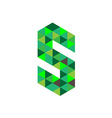 Letter S logo template Green triangles concept vector image vector image