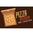 Pizza box vector image