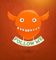 Cute Monster with Sign vector image