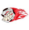 Angry soccer fireball vector image