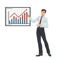 Businessman showing presentation vector image