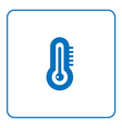 forecast weather Thermometer icon vector image
