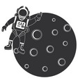 moon satellite with astronaut vector image