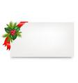 Christmas gift tag vector image