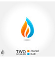 vector business emblem drop water flame icon vector image