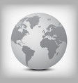 gray globe icon on light gray vector image