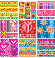 set of childrens cheerful sticker vector image vector image