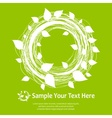 White leaves wreath on green vector image vector image