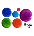 set of colorful watercolor paint circles vector image