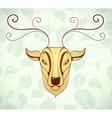 Artistic deer cartoon design vector image