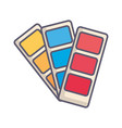 designer colors card icon vector image