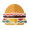 Flat hamburger icon vector image