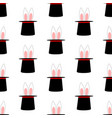 rabbit ears in magic hat pattern vector image