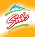 SMILE hand lettering vector image vector image