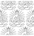 Seamless Pattern of Buddha and Lotus vector image